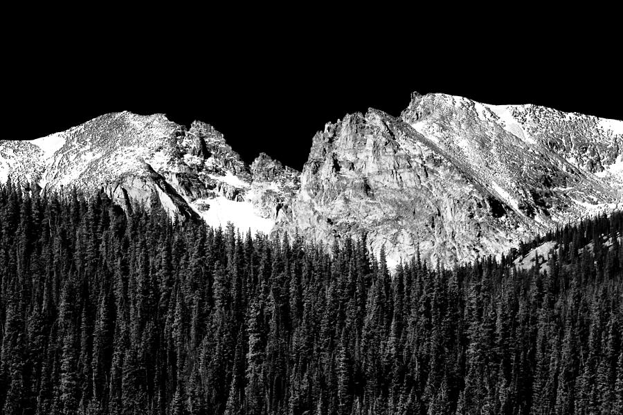 Indian Peaks Photograph - Colorado Rocky Mountains Indian Peaks Fine Art Bw Print by James BO Insogna