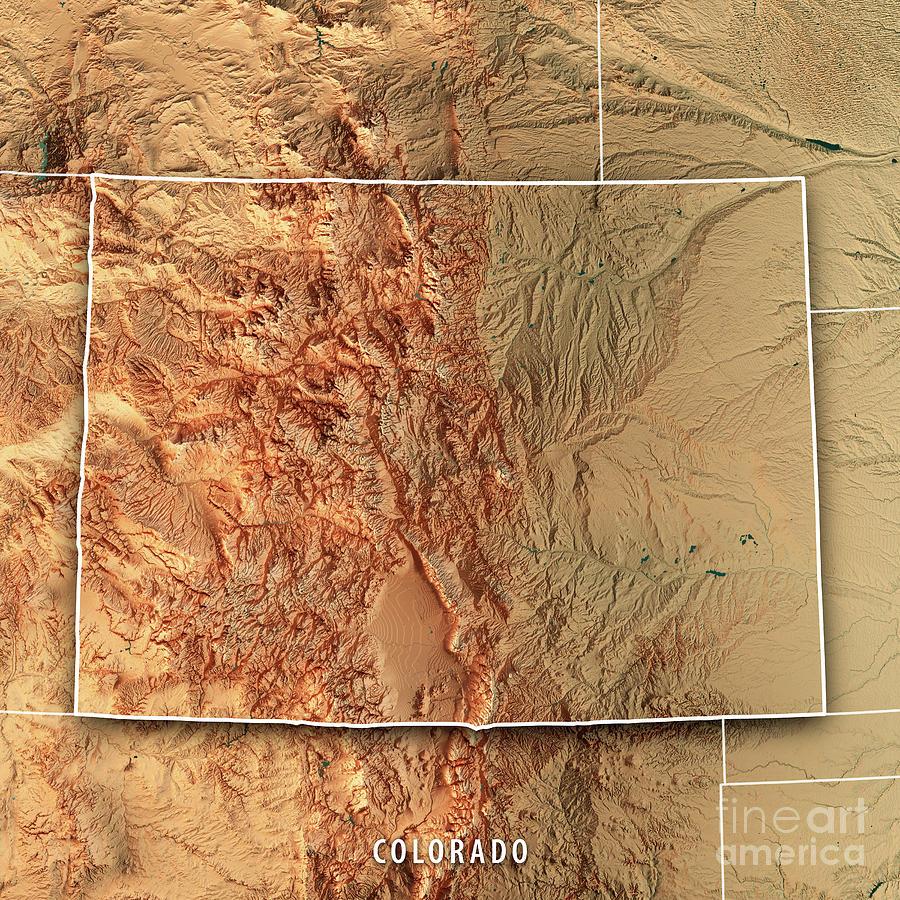3d topographic map of colorado