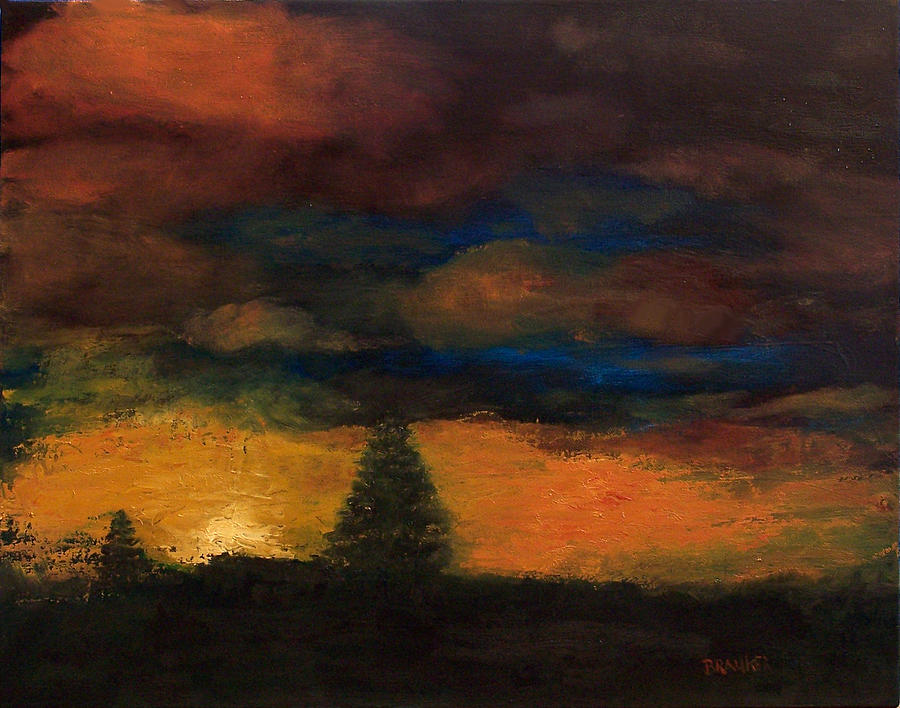 Colorado Sunrise Painting by Bill Brauker