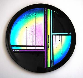 Purple Glass Art - Colorado Sunrise by Nancy Bonig