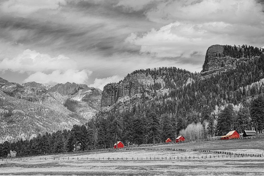 Barn Photograph - Colorado Western Landscape Red Barns by James BO  Insogna