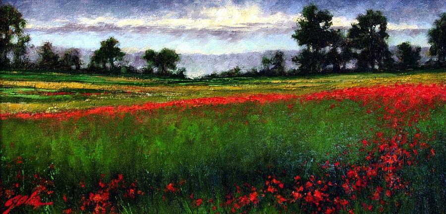 Landscape Painting - Colorburst by Jim Gola