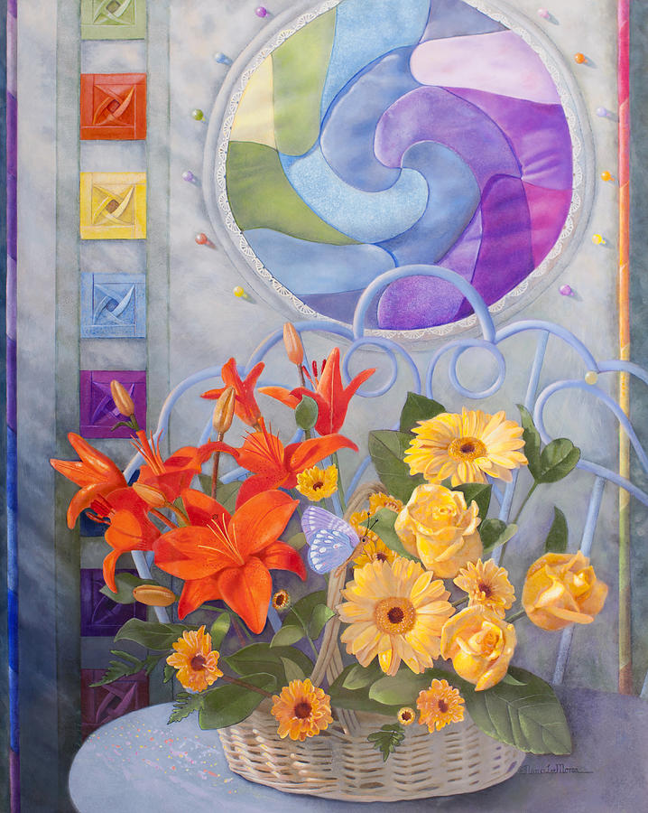 Quilt Painting - Colordance Of Summer by Nancy Lee Moran