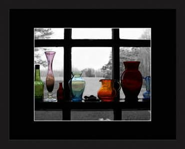 Colored Glass Photograph - Colored Glass On Gray by Brooke Chao