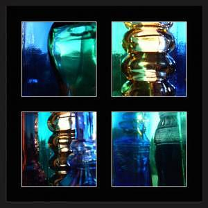 Colored Glass Photograph - Colored Glass Quartet by Brooke Chao