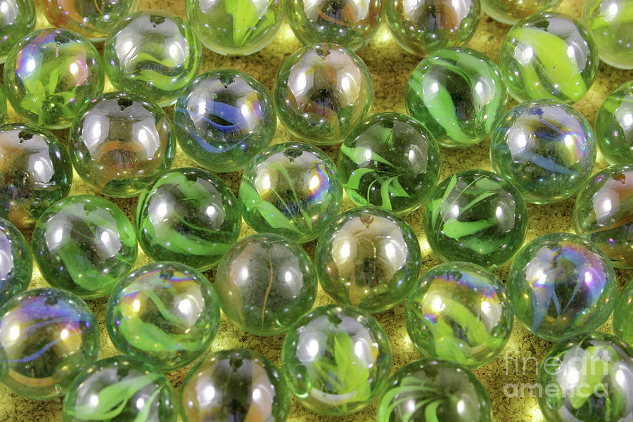Marbles Photograph - Colored Marbles by Daniel Ghioldi
