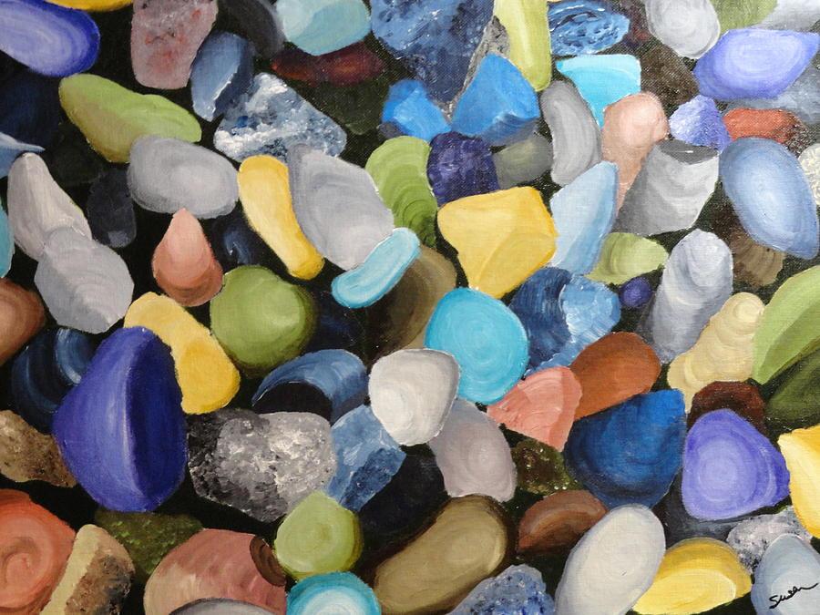Colored Rocks by Susan Anderson