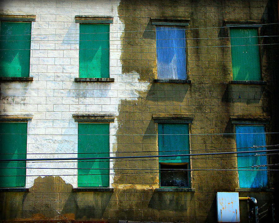 Windows Photograph - Colored Windows by Perry Webster