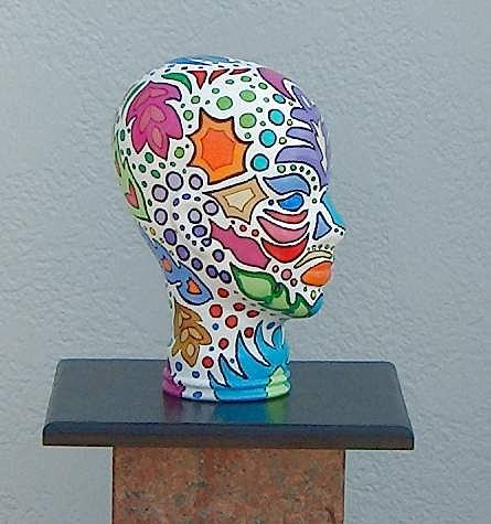 Glass Glass Art - Colores In My Head by Kathleen Henner