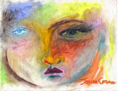 Colorfield Face 2 Painting by Jason  Cramer