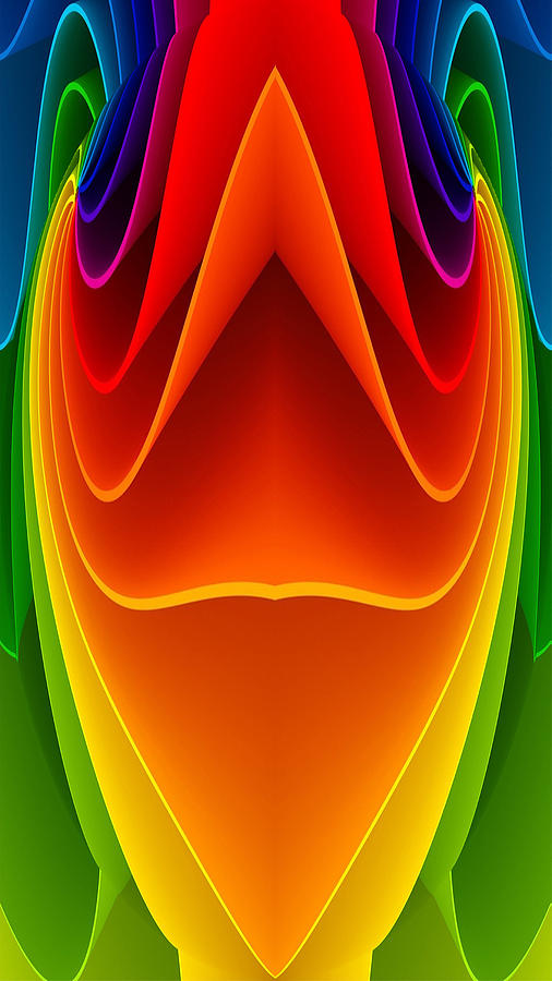 Colors Digital Art - Colorful 3a1 by Bruce Iorio