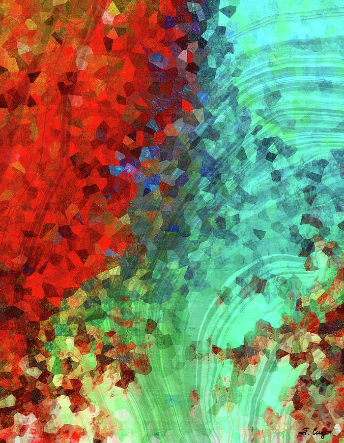 Red Painting - Colorful Abstract Art - Rejoice - Sharon Cummings by Sharon Cummings