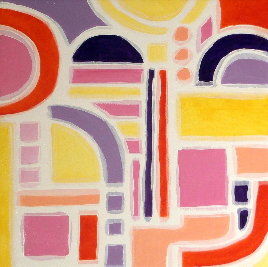 Geometric Painting - Colorful Abstract Art - Urban Maze by Karyn Robinson