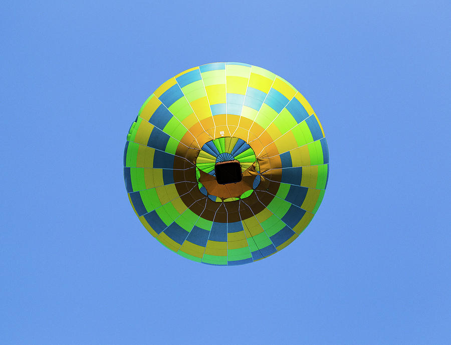 Colorful Abstract Hot Air Balloon by Pete Hendley