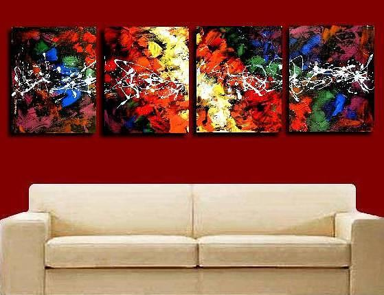 Colorful Painting - Colorful Abstract by Teo Alfonso