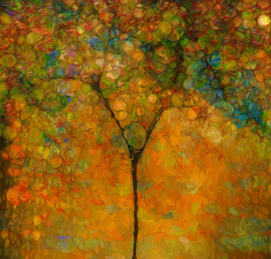 Colorful Abstract Tree Painting By Dan Sproul