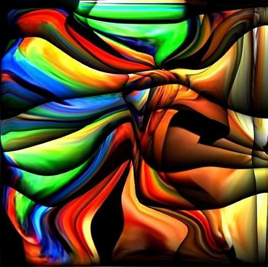 Colorful Digital Art - Colorful Abstract1 by Teo Alfonso