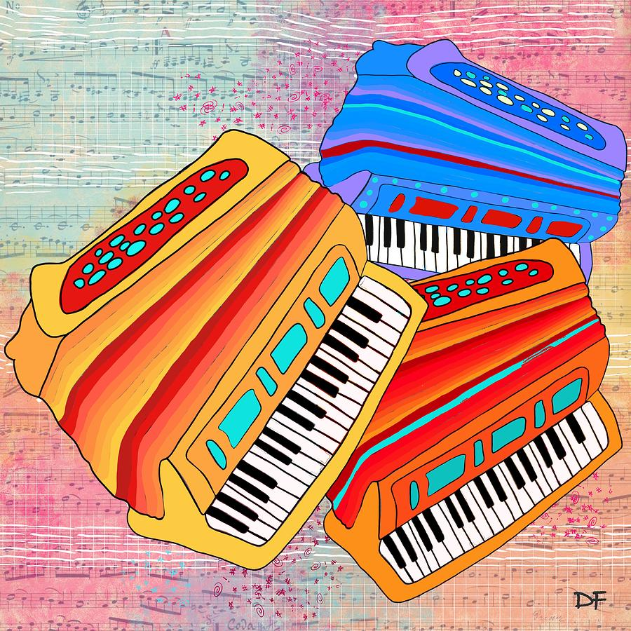 Colorful Accordions by Dora Ficher