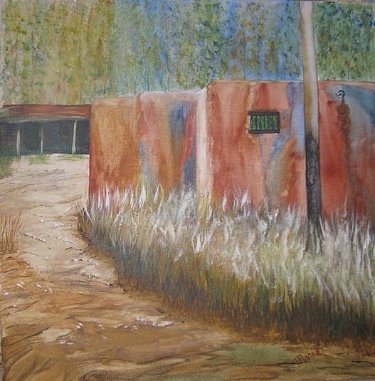 Southwest Painting - Colorful Adobe by Maris Sherwood