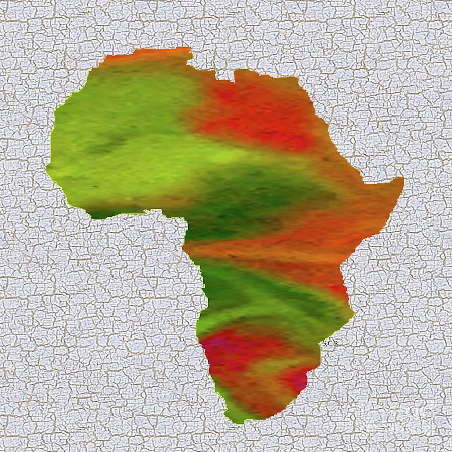 Colorful Map Of Africa.Colorful Art Africa Map