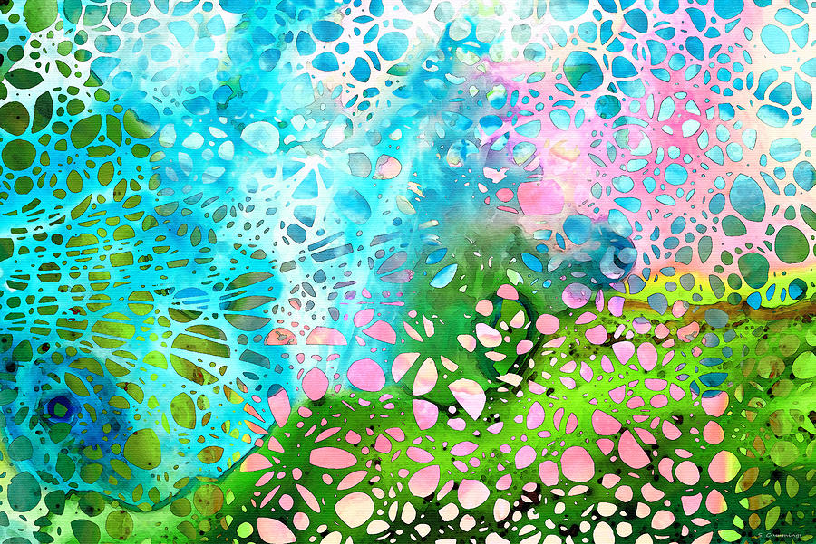 Abstract Painting - Colorful Art - Enchanting Spring - Sharon Cummings by Sharon Cummings