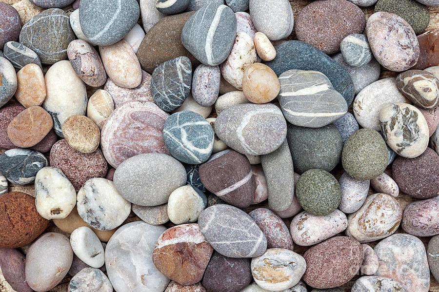 Colorful beach pebbles by Elena Elisseeva