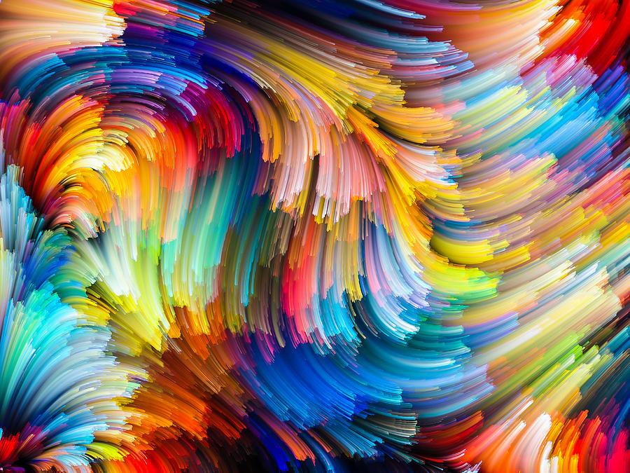 Abstract Paintings Painting - Colorful Beauty by Karen Showell