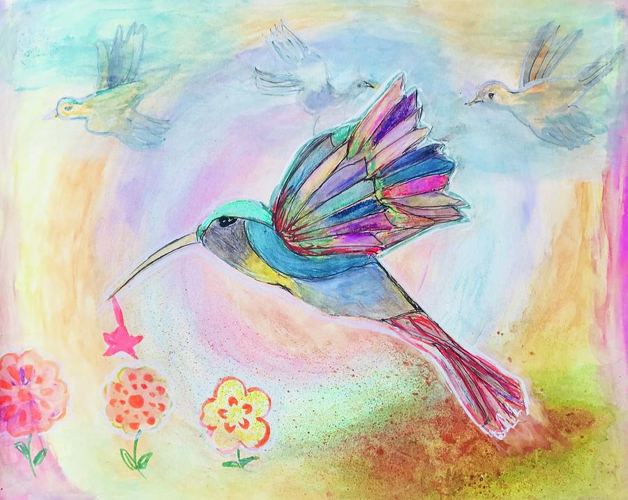 colorful bird painting by inicita soriano maslog