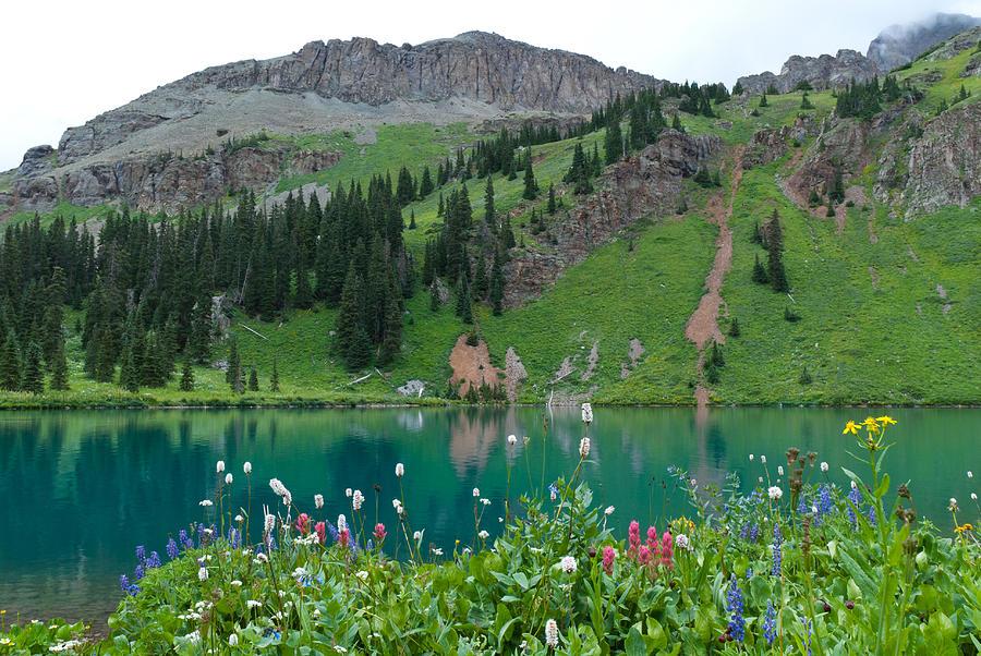 Blue Lake Photograph - Colorful Blue Lakes Landscape by Cascade Colors