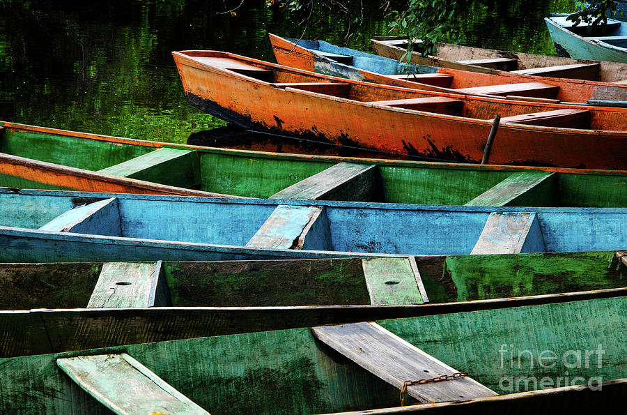 Boat Photograph - Colorful Boats Brazil by Bob Christopher