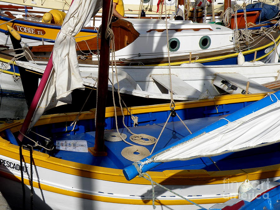 voiles Latines Photograph - Colorful Boats by Lainie Wrightson