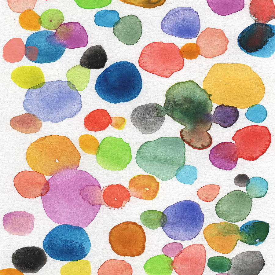Bubbles Painting - Colorful Bubbles by Linda Woods