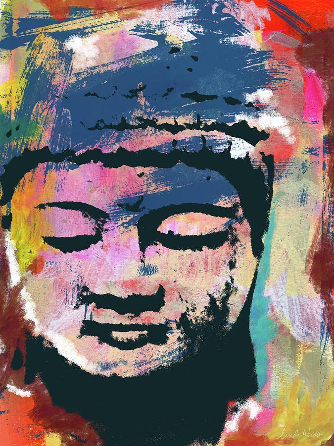 Buddha Mixed Media - Colorful Buddha 1- Art By Linda Woods by Linda Woods