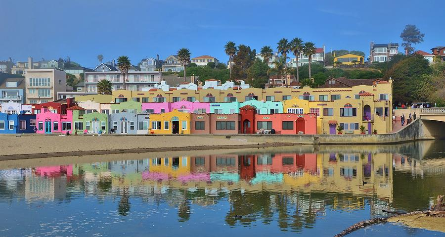 Colorful Capitola Venetian Hotel by Marilyn MacCrakin