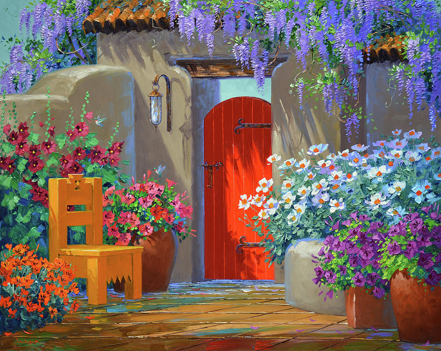 Hummingbirds Painting - Colorful Captivation by Mikki Senkarik