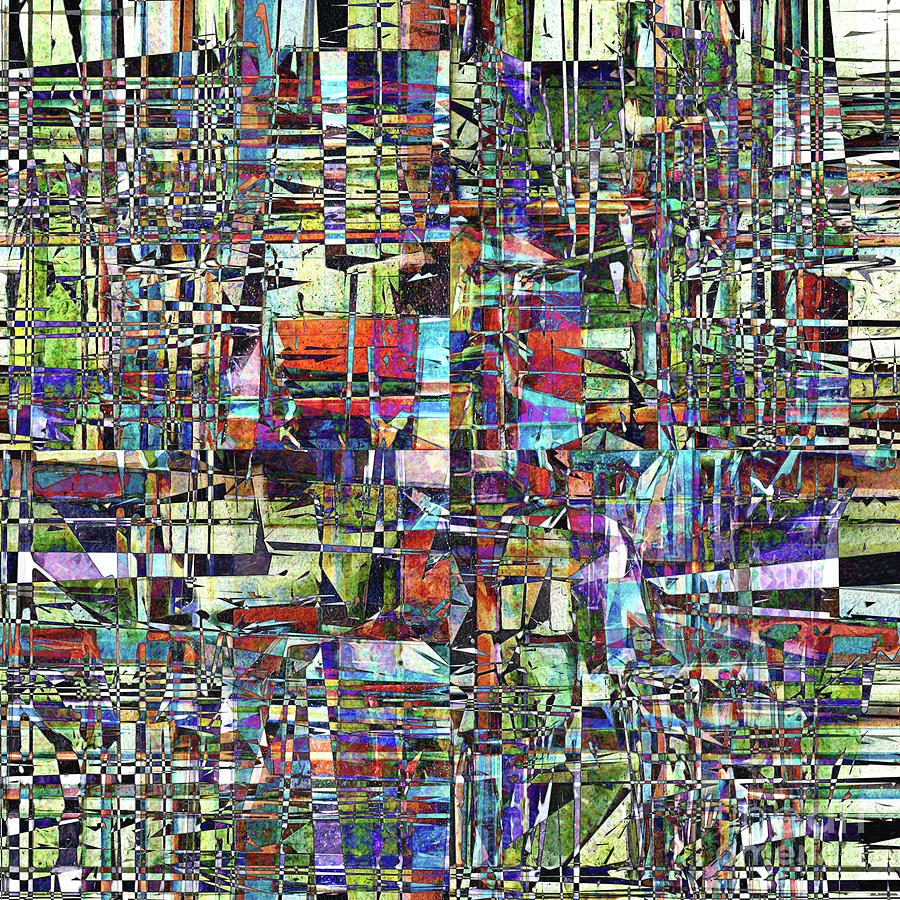 Chaos Digital Art - Colorful Chaotic Composite by Phil Perkins