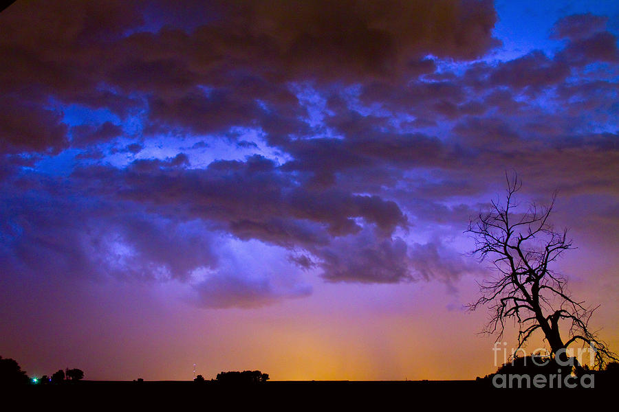 Bouldercounty Photograph - Colorful Cloud To Cloud Lightning by James BO  Insogna