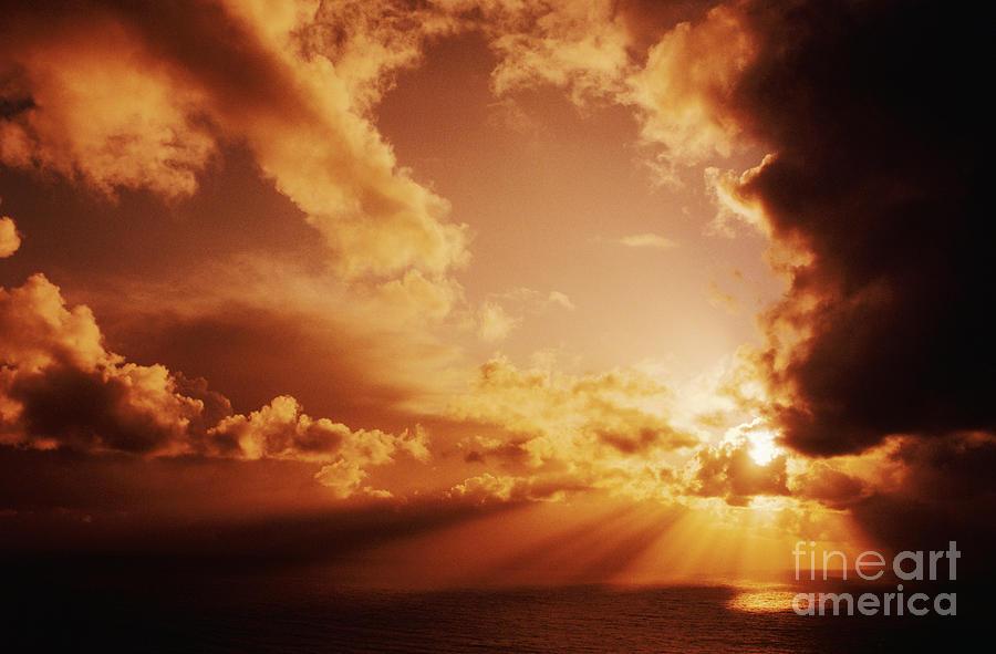 Beautiful Photograph - Colorful Cloudburst by Larry Dale Gordon - Printscapes