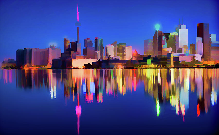 Colorful CN Tower  by Roy Pedersen