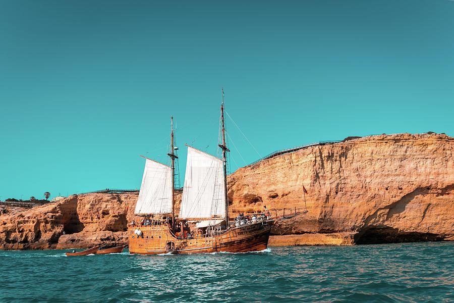 Colorful Coastal Sailing on an Old Wooden Tall Ship by Georgia Mizuleva