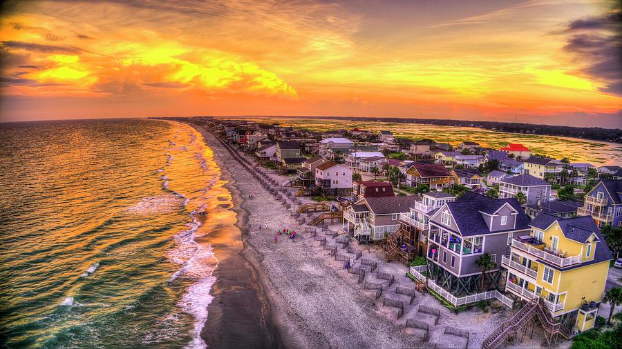 Colorful Coastline Sunset by Robbie Bischoff