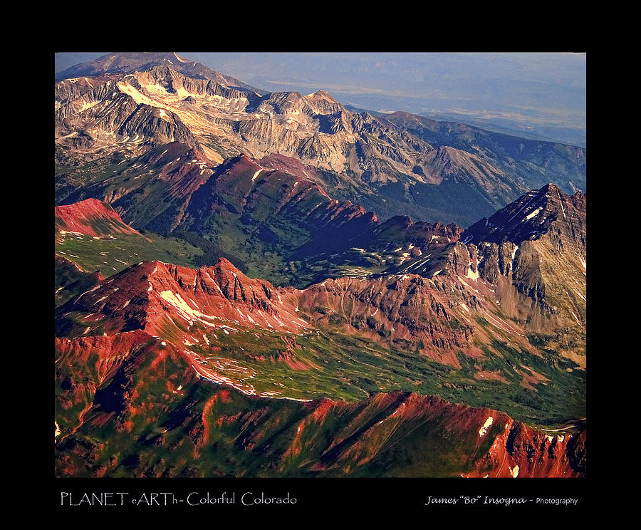 Colorful Photograph - Colorful Colorado Rocky Mountains Planet Art Poster  by James BO  Insogna