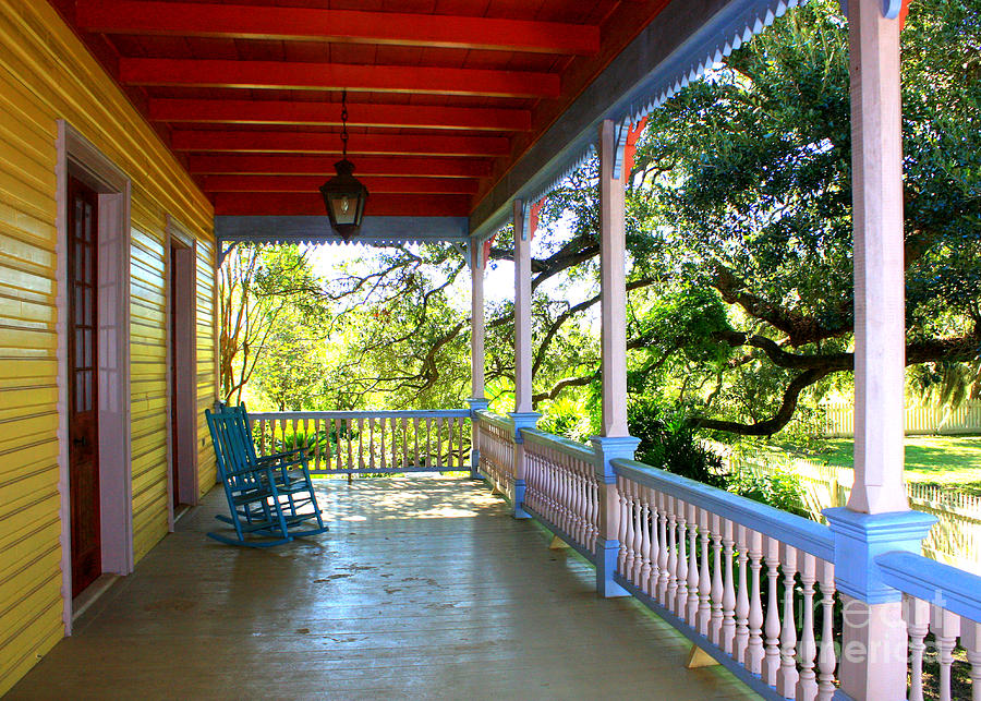 Porch Photograph - Colorful Creole Porch by Carol Groenen