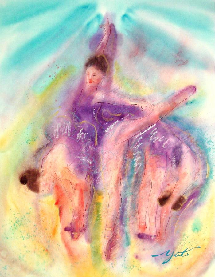 Ballet Dancers Painting - Colorful Dance by John YATO
