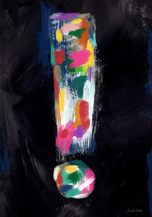 Colorful Painting - Colorful Exclamation Point- Art By Linda Woods by Linda Woods