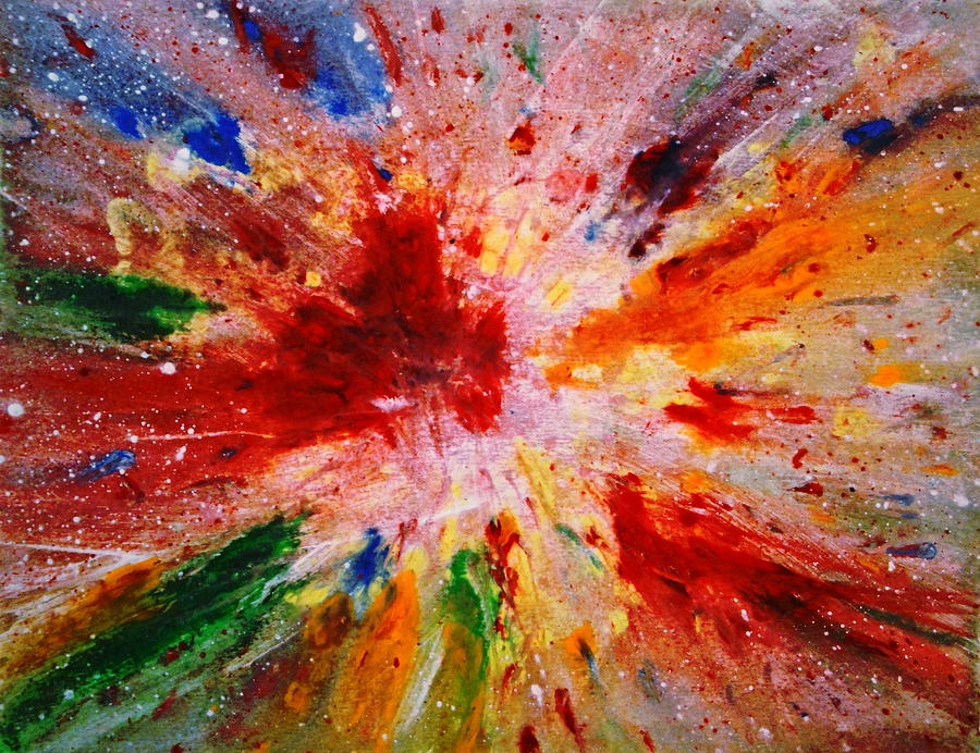 Expressionism Painting - Colorful Expression-9 by Natalie Holland