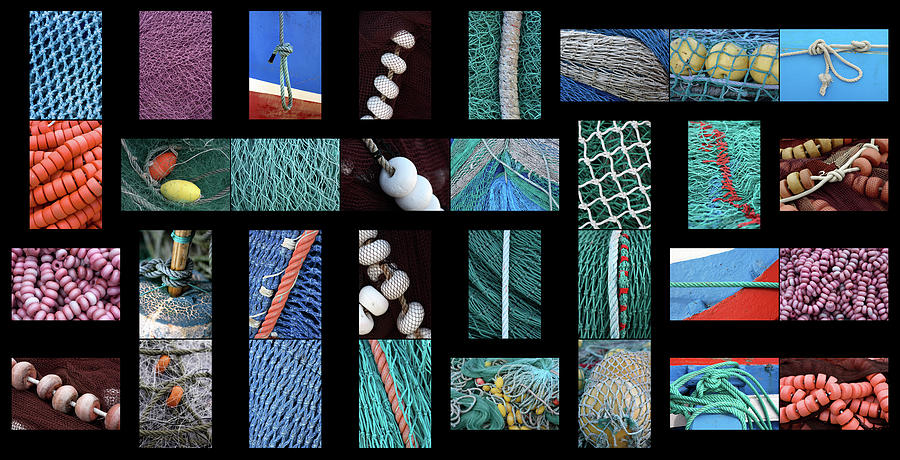 Fishing Nets Photograph - Colorful Fishing Nets by Frank Tschakert