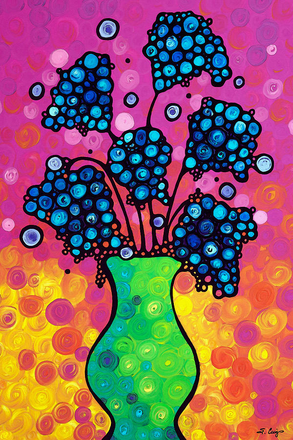 Flower Painting - Colorful Flower Bouquet by Sharon Cummings by Sharon Cummings