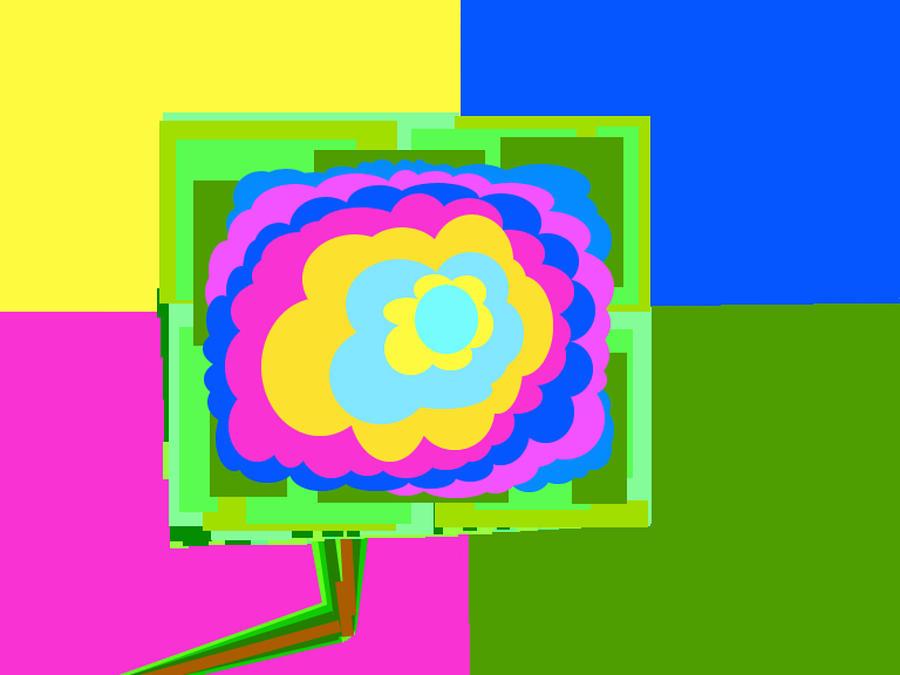 Colorful Flower  Digital Art by John Lawrence