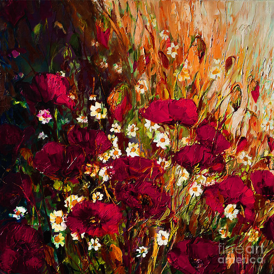 Colorful Flowers Painting by Gull G